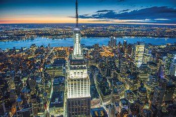 Jason Hawkes - Empire State Building at Night - плакат