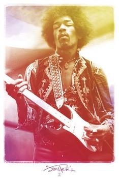 Jimi Hendrix - legendary плакат