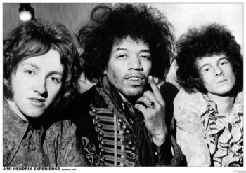 Jimi Hendrix - London 1967 - плакат