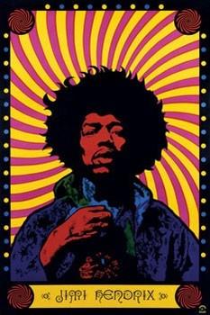 Jimi Hendrix - psychedelic плакат