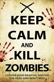 Keep Calm And Kill Zombies плакат
