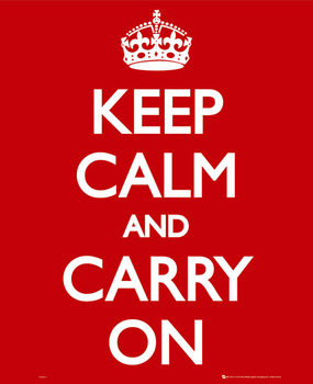 Keep calm & carry on - плакат