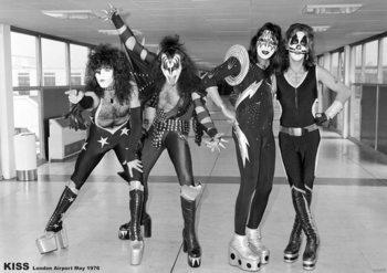 Kiss - London 1976 плакат