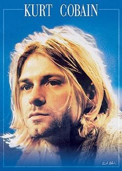 Kurt Cobain - clouse up / face плакат