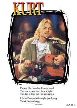 Kurt Cobain - lyrics / guitar плакат