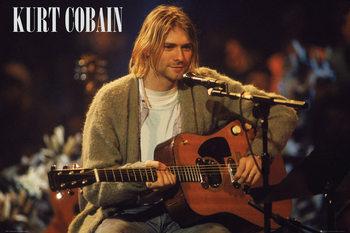 Kurt Cobain - Unplugged Landscape плакат