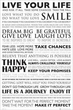 Live your life плакат