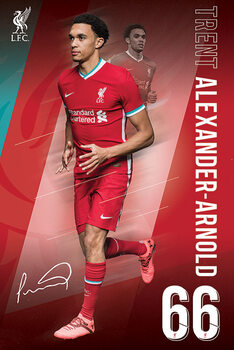 Liverpool FC - Alexander Arnold 20/2021 Season плакат