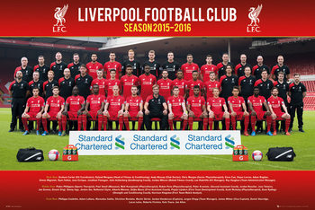 Liverpool FC - Team Photo 15/16 плакат