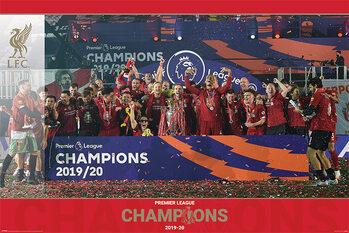 Liverpool FC - Trophy Lift плакат