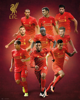 Liverpool - Players 16/17 плакат