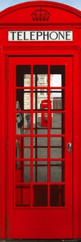 London - telephone box - плакат