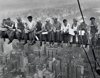 Lunch on a skyscraper - плакат