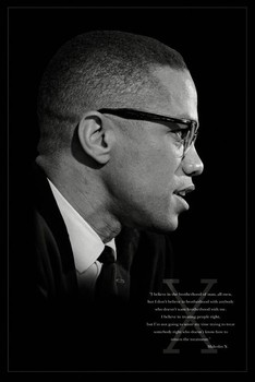 Malcolm X – brothers плакат