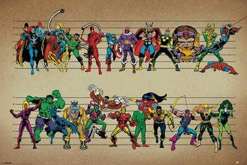 Marvel Comics - Line Up плакат