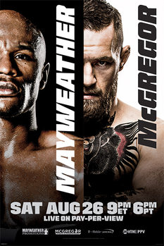 Mayweather vs McGregor: Fight Poster плакат