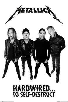 Metallica - Hardwired Band - плакат