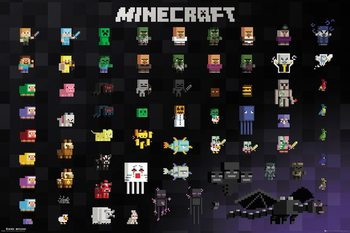 Minecraft - Pixel Sprites плакат