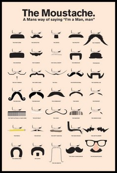MOUSTACHE - a man's way of saying плакат