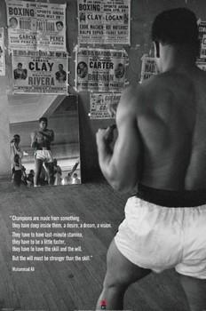 Muhammad Ali - gym - плакат