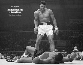 Muhammad Ali - V Liston Landscape плакат