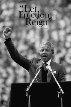 Nelson Mandela - freedom плакат