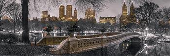 New York - Bow Bridge Central Park плакат
