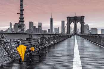 New York - Brooklyn bridge, Assaf Frank плакат