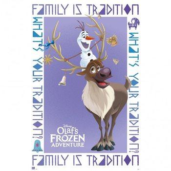 Olaf Frozen Adventure Olaf & Sven плакат