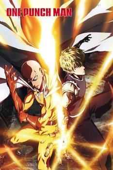 One Punch Man - Saitama & Genos плакат