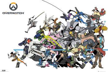 Overwatch - Battle плакат