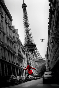 Paris - la veste rouge - плакат