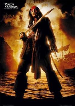 Pirates of Caribbean - Depp плакат