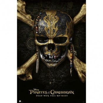 Pirates Of The Caribbean Dead Men Tell No Tales - Skull плакат