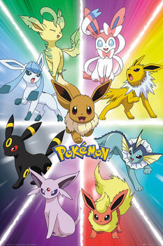 Pokemon - Eevee Evolution плакат