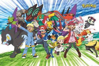 Pokemon - Traveling Party плакат