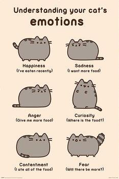 Pusheen - Cats Emotions плакат