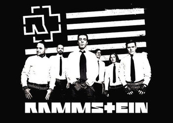 Rammstein - logo stripes плакат
