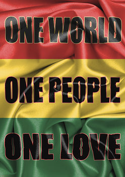 Rasta Flag - One Love плакат