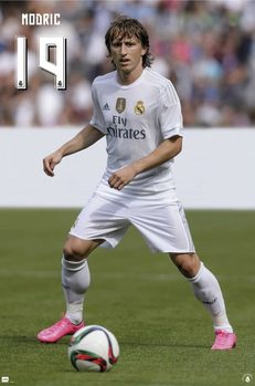 Real Madrid 2015/2016 - Modric accion плакат