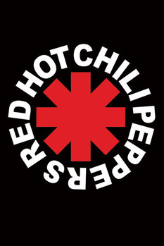Red hot chili peppers -logo плакат