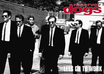 Reservoir dogs плакат