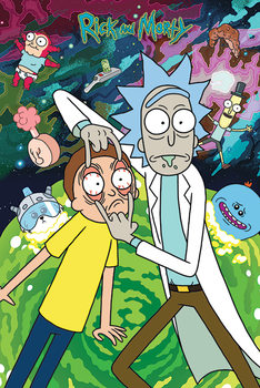Rick and Morty - Watch плакат