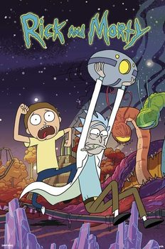 Rick & Morty - Planet плакат