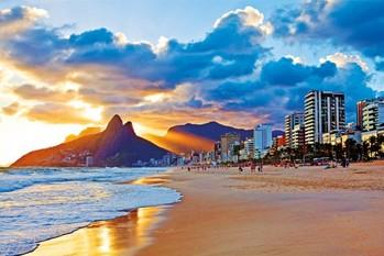 Rio de Janeiro - Beach - плакат