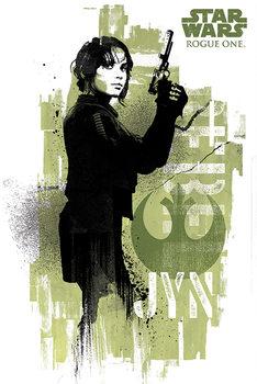 Rogue One: Star Wars Story - Jyn Grunge - плакат