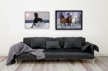 Running horses - bob langrish - плакат