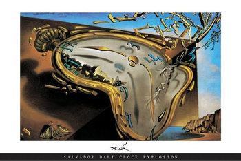 Salvador Dali - Clock Explosion - плакат
