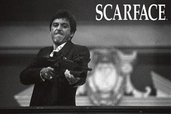 Scarface - b&w плакат