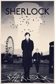 Sherlock - London - плакат